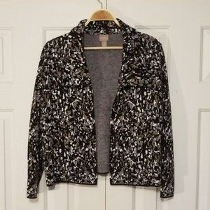 Chico's Cozy Knit Open Front Cardigan Sweater